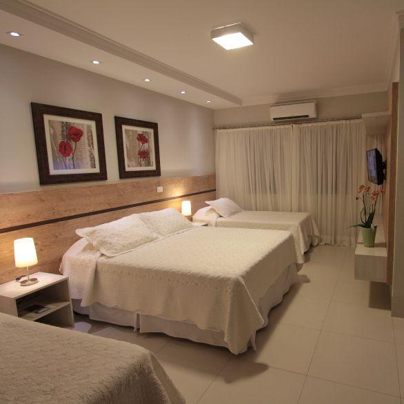 Quarto Luxo Quádruplo do Hotel Pousada Surucuá em Bonito MS